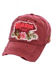 T13MOM09(BUR)-wholesale-cap-mama-bear-floral-multi-color-baseball-embroidered-vintage-torn-stitch-cotton-animal(0).jpg
