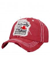 T13ROD02(BUR)-wholesale-cap-frist-rodeo-lasso-cowboy-hat-embroidered-vintage-torn-stitch-baseball-cotton-rope-red(0).jpg