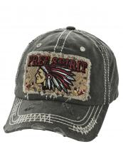 T13SPT01(BK)-wholesale-baseball-cap-free-spirit-native-indian-chief-feather-tribal-chevron-vintage-embroidered(0).jpg