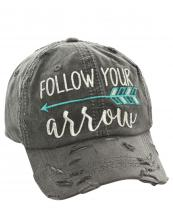 T13SPT03(BK)-W08-wholesale-baseball-cap-follow-your-arrow-cotton-vintage-torn-embroidered-hook-loop-closure(0).jpg