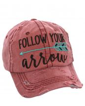 T13SPT03(BUR)-W08-wholesale-baseball-cap-follow-your-arrow-cotton-vintage-torn-embroidered-hook-loop-closure(0).jpg