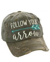 T13SPT03(OV)-W08-wholesale-baseball-cap-follow-your-arrow-cotton-vintage-torn-embroidered-hook-loop-closure(0).jpg