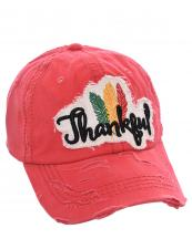 T13THK05(COR)-wholesale-cap-thankful-feather-multi-color-baseball-embroidered-vintage-torn-stitch-cotton-hook-loop(0).jpg