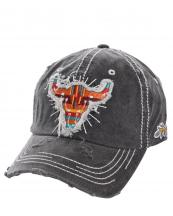 T13WIL03(BK)-wholesale-baseball-cap-longhorn-serape-arrow-leaf-stripe-multi-color-cotton-vintage-torn-embroidered(0).jpg