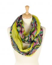 TINF3313(YL)-wholesale-tribal-diamond-print-solid-infinity-scarf-polyester-border(0).jpg