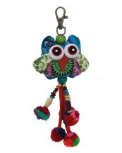 TRHA001(BL)-wholesale-key-chain-doll-owl-animal-multicolor-patchwork-3d-dangling-droplet-beads-pompom-handmade(0).jpg