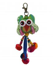 TRHA001(GN)-wholesale-key-chain-doll-owl-animal-multicolor-patchwork-3d-dangling-droplet-beads-pompom-handmade(0).jpg