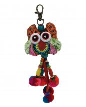 TRHA001(OR)-wholesale-key-chain-doll-owl-animal-multicolor-patchwork-3d-dangling-droplet-beads-pompom-handmade(0).jpg