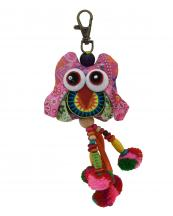 TRHA001(PK)-wholesale-key-chain-doll-owl-animal-multicolor-patchwork-3d-dangling-droplet-beads-pompom-handmade(0).jpg