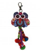 TRHA001(PP)-wholesale-key-chain-doll-owl-animal-multicolor-patchwork-3d-dangling-droplet-beads-pompom-handmade(0).jpg