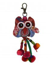 TRHA001(RD)-wholesale-key-chain-doll-owl-animal-multicolor-patchwork-3d-dangling-droplet-beads-pompom-handmade(0).jpg