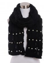 VS0385(BK)-wholesale-scarf-knitted-faux-pearl-solid-color-plain-white-round-oversized-versatile-warm-acrylic(0).jpg