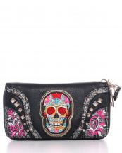 W2062W22SUKB(BK)-wholesale-sugar-skull-wallet-leatherette-embroidered-floral-studs-zipper-wristlet-strip(0).jpg