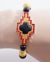 WB0678GL(BLK)-wholesale-bracelet-metal-aztec-tribal-multi-color-round-stone-beads-beaded-rhinestone-(0).jpg