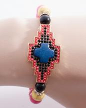 WB0678GL(PNK)-wholesale-bracelet-metal-aztec-tribal-multi-color-round-stone-beads-beaded-rhinestone-(0).jpg