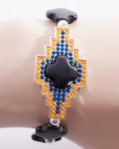 WB0679SV(BLK)-wholesale-bracelet-metal-aztec-tribal-multi-color-stone-beads-beaded-silver-(0).jpg