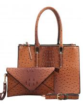WE0017(BR)-wholesale-handbag-clutch-set-2pcs-alligator-ostrich-pattern-leatherette-animal-zipper-vegan-leather(0).jpg