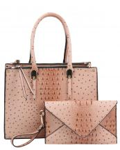 WE0017(BS)-wholesale-handbag-clutch-set-2pcs-alligator-ostrich-pattern-leatherette-animal-zipper-vegan-leather(0).jpg