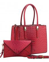 WE0017(CH)-wholesale-handbag-clutch-set-2pcs-alligator-ostrich-pattern-leatherette-animal-zipper-vegan-leather(0).jpg