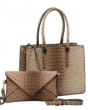 WE0017(TP)-wholesale-handbag-clutch-set-2pcs-alligator-ostrich-pattern-leatherette-animal-zipper-vegan-leather(0).jpg