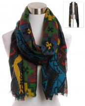 YC090(BK)-wholesale-scarf-wrap-shawl-aztec-pattern-multi-color-fringe-long-tribal-southwestern-polyester-(0).jpg