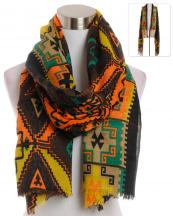 YC090(BR)-wholesale-scarf-wrap-shawl-aztec-pattern-multi-color-fringe-long-tribal-southwestern-polyester-(0).jpg