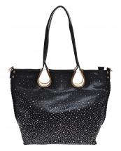 YN130(BK)-wholesale-handbag-rhinestone-stud-multi-size-whipstitch-shiny-coated-fabric-solid-color-gold-fashion(0).jpg