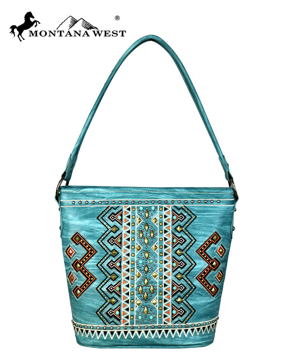 Montana West Hobo Handbags Western Colorful Embroidered Aztec Purses MW652-916