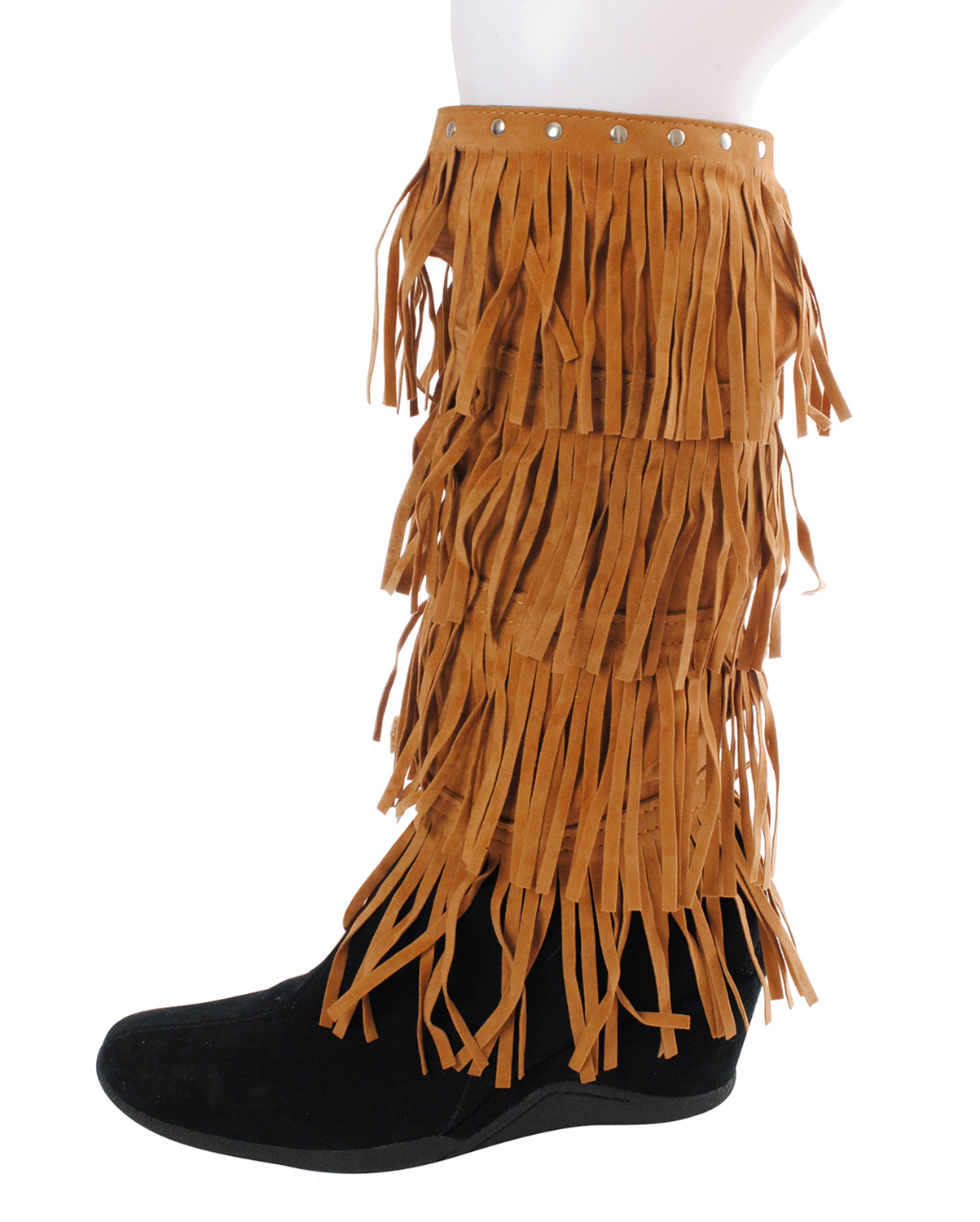 OL0062SV(BR)-wholesale-boot-topper-cuffs-rugs-faux-leather-solid-western-fringe-size-adjustable-velcro-closure-(0).jpg