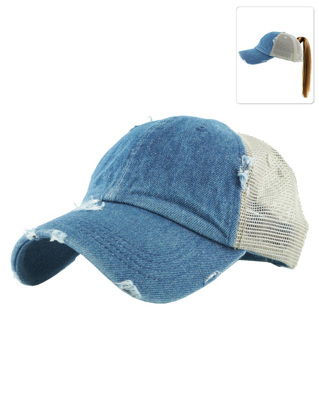 info for 9a9ce 4207e PONY002(MDM)-wholesale-baseball-cap-ponytail-mesh-denim