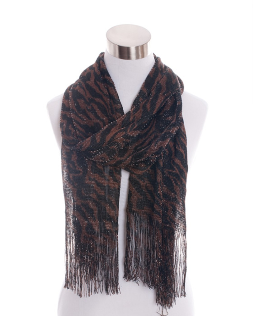 SCF1867(BR)-wholesale-zebra-print-scarf-animal-sheer-fringe-glitter-(0).jpg