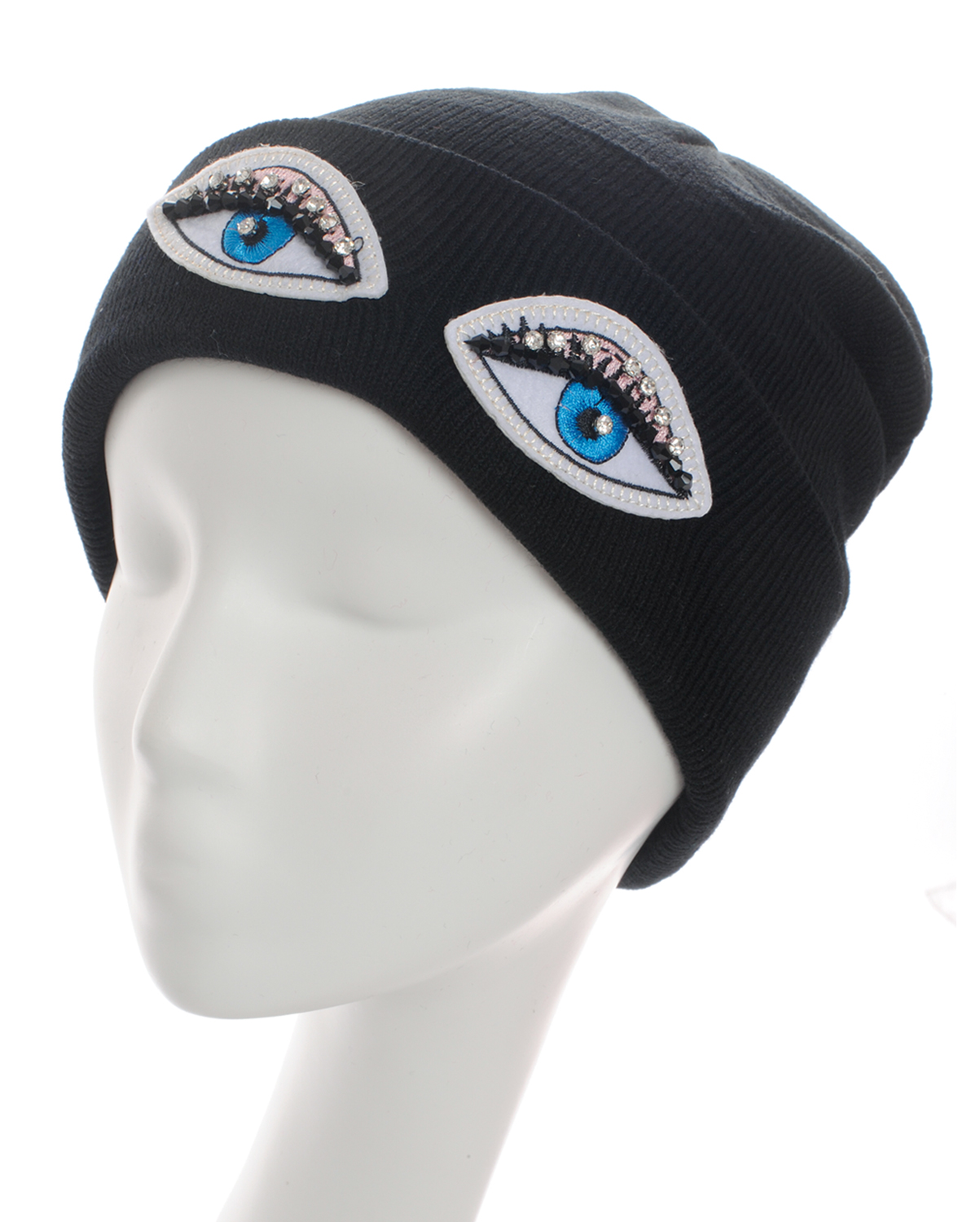 SS0644(BK)-wholesale-beanie-eyes-embroidered-rhinestones-black-beads-solid-color-knitted-stretch-fitted-acrylic(0).jpg