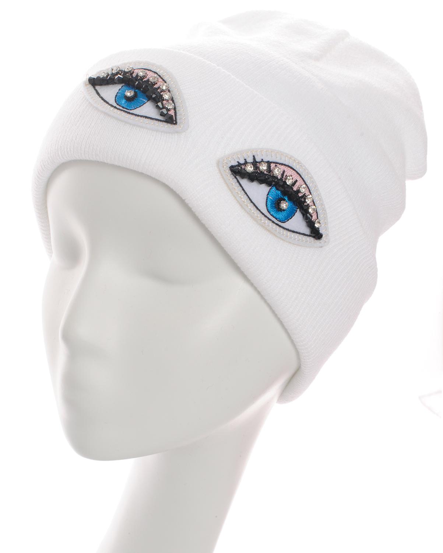 SS0644(WT)-wholesale-beanie-eyes-embroidered-rhinestones-black