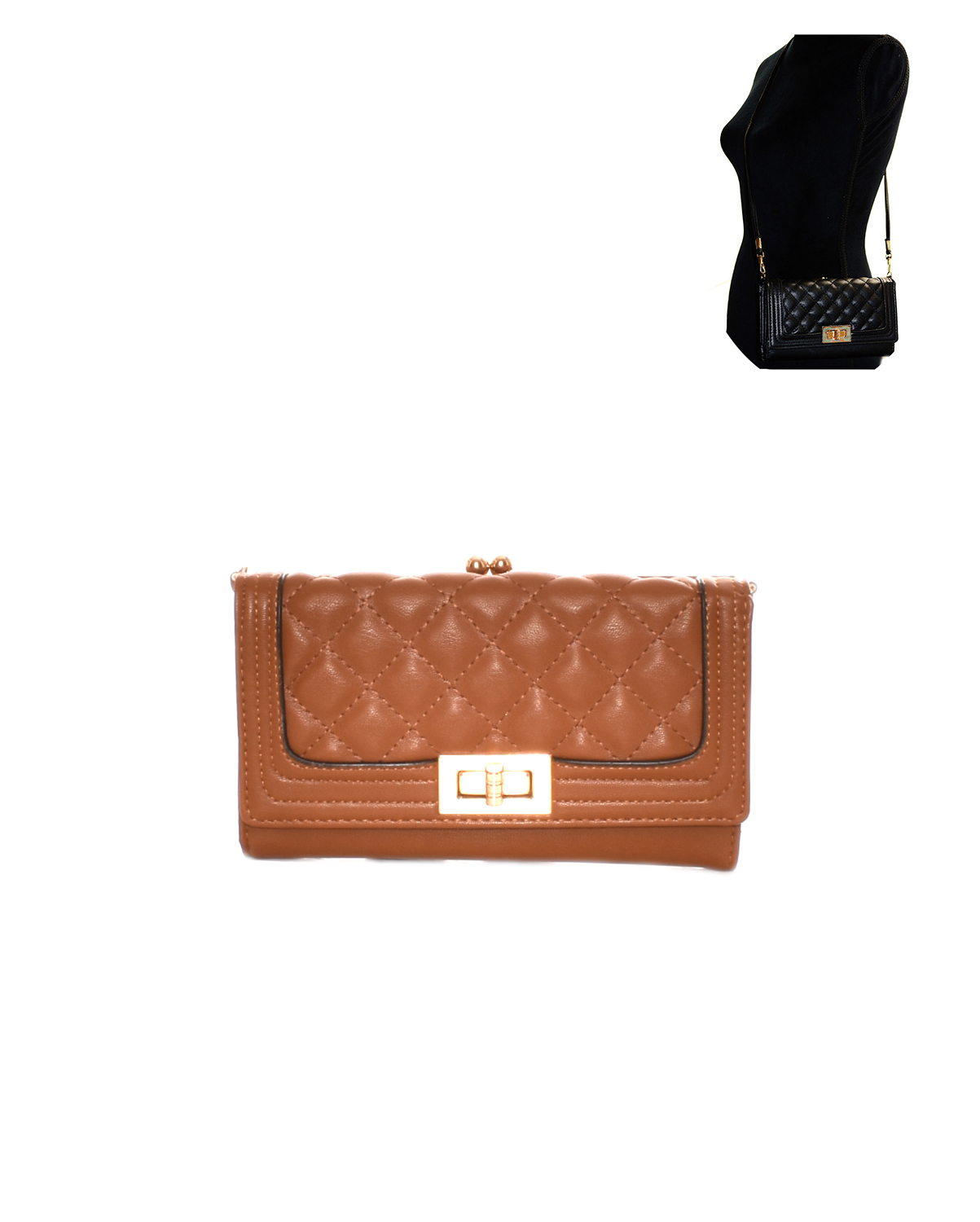 YG108(TN)-S31-wholsale-plaid-pattern-wallet-gold-tone-metal-hardware-magnetic-snap-button-zipper(0).jpg