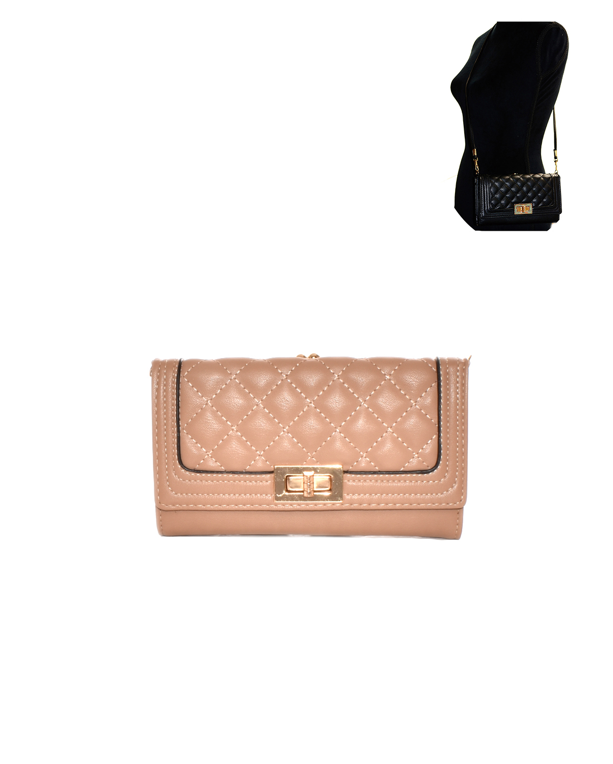 YG108(TP)-S31-wholsale-plaid-pattern-wallet-gold-tone-metal-hardware-magnetic-snap-button-zipper(0).jpg